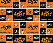 Cotton Oklahoma State Cowboys University College Cotton Fabric Print D663.12