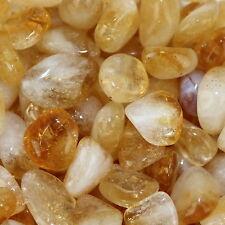 Chakra Stone Citrine Quartz Reiki Healing Gift Tumbled Gemstone Small x10