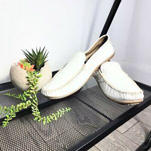 Steve Madden Kronos White Leather Men's Slip On Loafers Size 10.5D