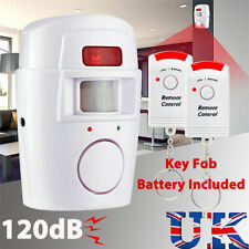 Wireless Safety PIR Motion Detector Sensor Burglar Intruder Alarm With 2 Remote