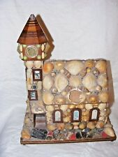 VINTAGE REUGE CHURCH MUSICAL BOX SHELL FOLK ART MUSIC BOX , JEWELLERY BOX