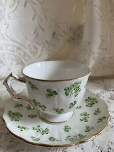 Aynsley Shamrock Cup And Saucer