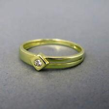 Solitäre Echtschmuck aus Gelbgold mit P1 Brillantschliff Ringe