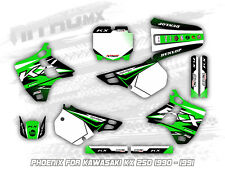 NitroMX Graphic Kit for KAWASAKI KX 250 1990 1991 Motocross Decal Stickers MX
