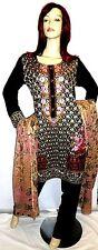Shalwar kameez eid black pakistani designer salwar sari abaya hijab suit uk 12