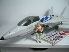 K1846062 SKYSTRIKER F-14 W/ ACE & PARACHUTE REPRO DECALS G.I. JOE 1983 ORIGINAL