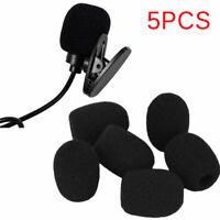 5pcs Black Microphone Headset Foam Sponge Windscreen Mic Cover Uf