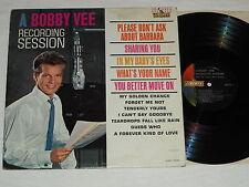 BOBBY VEE-A Recording Session (1962) Mono LIBERTY LP