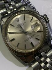 WATCH ROLEX OYSTER PERPETUAL DATEJUST REF.1601 CAL.1570 WHITE GOLD BEZEL