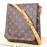 Authentic LOUIS VUITTON Musette Salsa Monogram Cross Body Shoulder Bag #32913