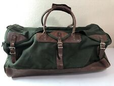 ORVIS Green Canvas & Leather Hunting Travel Duffle Bag Battenkill 25""