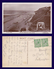 UK NORFOLK CROMER REAL PHOTO PROMENADE CIRCA 1912 TO MR. A. BAMFORD, NORTHAMPTON