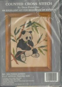 Panda Garden cross stitch Kit - from my personal stash