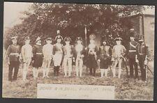 Postcard Royal Marines Depot at Deal Kent military uniform Pageant 1906 RP