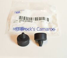 93-05 BUICK REGAL CENTURY RUBBER HOOD BUMP STOPS PAIR NEW GM 25530263