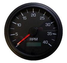 """Tachometer, programmable, 4K RPM, 3-3/8""""/86mm, LED light black/black,001-TA4-BB"""
