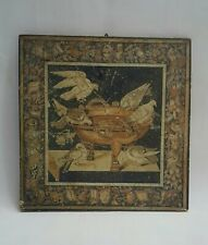More details for vintage italian print of pompeian mosaic by fratelli alinari idea florence italy