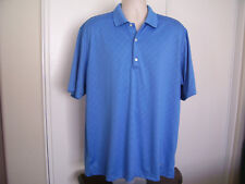 Greg Norman PLAY DRY Sky Blue SS Polo Shirt Golf Casual Men's Size XL