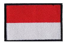 Ecusson patche patch drapeau MONACO 70 x 45 mm à coudre