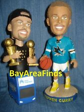 2 San Jose Sharks & Golden State Warriors Stephen Curry bobblehead SGA Bobble