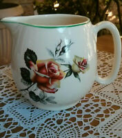 Lord Nelson Pottery England Creamer, Pitcher, Vintage Roses
