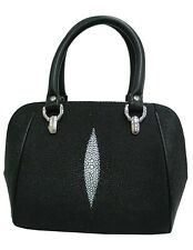 Genuine Stingray Leather Clamshell Handbag (02-237)