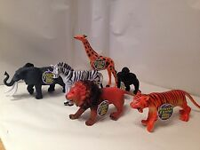 New 6 x large  Explore Planet Earth kids toy jungle animal figures playset party