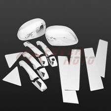 Chrome Door Handle Pillar Post Mirror Covers For Dodge Magnum Chrysler 300 05-08