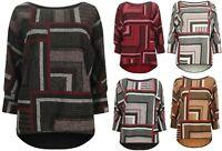 Ladies Lagenlook Top Italian One Size Tunic Oversized Dress Blouse New Womens