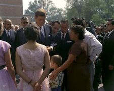 President John F. Kennedy visits housing project in Mexico City New 8x10 Photo