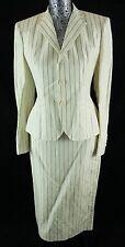 Ralph Lauren Beige Jacket Skirt Petite Business Suit Silk Sz. 6 $1896 BNWT