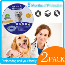 Flea and Tick Collar for Dogs 2 Packs, 16Month, One Size Fits All, Free Shipping