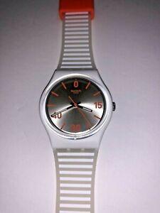 Hard to find Limited Edition 2016 Roland Garros Swiss Swatch Watch Tennis Orange