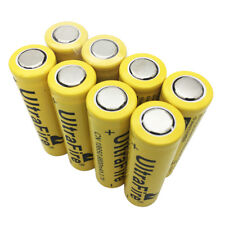 8X Flat Top 18650 Li-ion 9800mAh 3.7V Rechargeable Battery for Flashlight Torch