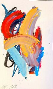 CORBELLIC ABSTRACT PAINTING EXPRESSIONISM MODERN TROUBLE COLLECTIBLE FINE ART