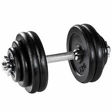 Manubrio con pesi in ghisa 30kg palestra set peso fitness bilanciere nero