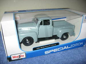 1948 FORD F-1 PICKUP GRAY 1:25 SCALE MAISTO SPECIAL EDITION NEW IN BOX