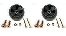 (2) New DECK WHEEL / ROLLER KITS John Deere AM116299 AM133602 Anti Scalp Mower