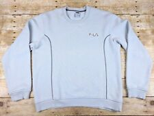 FILA Men's Gray Crewneck Spell Out Heather Pullover Sweatshirt, Size Small