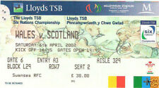 WALES v SCOTLAND 2002 RUGBY TICKET