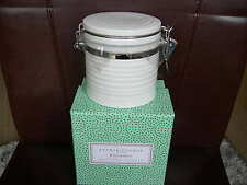 Portmeirion Sophie Conran Small Lidded Storage Jar Coffee Tea White New Boxed