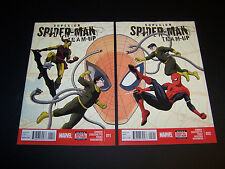 SUPERIOR SPIDER-MAN TEAM-UP #11 & 12 CONNECTING COVER SET/2 UINTERLOCKING HTF