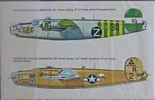 CONSOLIDATED B-24 LIBERATOR BOMBER USAAF ESCI DECALS 1/72