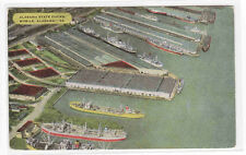 Alabama State Docks Aerial View Mobile AL 1956 postcard