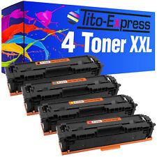 Laser Toner Kartuschen Toner Patronen 4er Set für HP CF540A CF541A CF542A CF543A