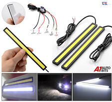 14CM led drl strip feux de circulation diurne blanc cob lights & relais variateur harnais
