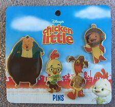 Disney Hong Kong Chicken Little 4-Pin Set Abby Mallard Runt Fish VHTF