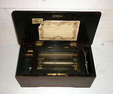 Ancienne grande boite à musique XIX ème 4 airs Suisse Music Box 19th bois