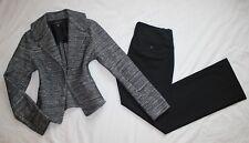 BANANA REPUBLIC Size 10 Women's Pant Suit Black & Gray PERFECT! 10 Long