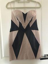 Sass & Bide Strapless Nude/Black Dress